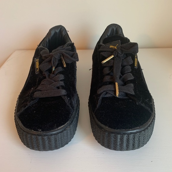 info for b3571 0cd51 FENTY puma black velvet creepers sneakers